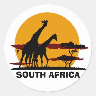 Suráfrica Pegatina Redonda