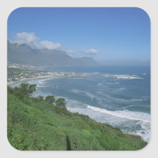 Suráfrica - playa de Clifton, Cape Town Pegatina Cuadrada
