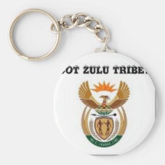 Suráfrica (tribu del Zulú) Llavero Redondo Tipo Pin