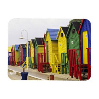 Suráfrica, Western Cape, San Jaime. Colorido Imán Flexible