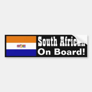 ¡Surafricano a bordo! Pegatina Para Auto
