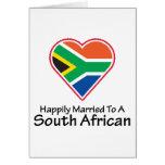 Surafricano feliz casada felicitación