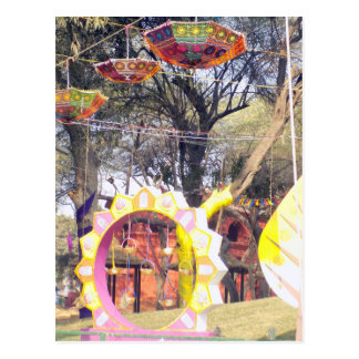 Suraj Kund Festival Outdoor party tree decorations Postcard