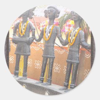 Suraj Kund Mela New Delhi arts crafts show Classic Round Sticker