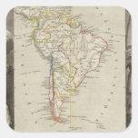 Suramérica 16 pegatina cuadrada