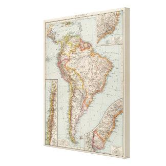 Suramérica 20 impresión en lienzo