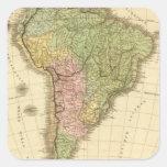 Suramérica 20 pegatina cuadrada
