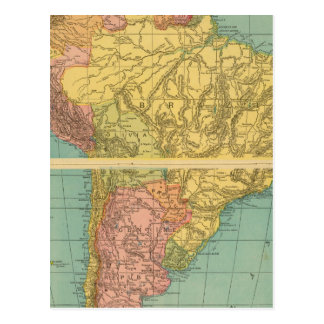 Suramérica 20 tarjeta postal