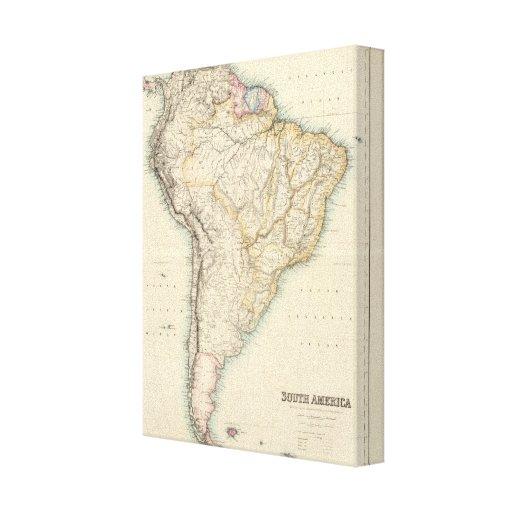 Suramérica 30 impresión en lienzo