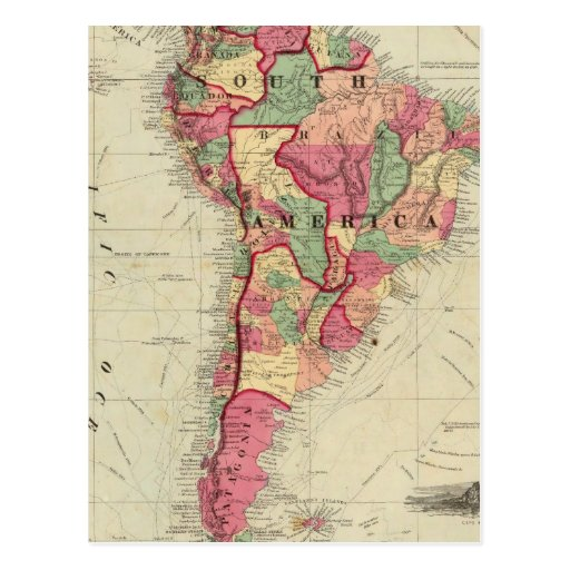 Suramérica 4 tarjeta postal