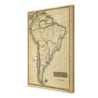 Suramérica 9 lona envuelta para galerías