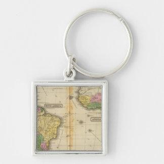 Suramérica África Llavero Personalizado