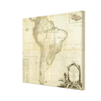 Suramérica compuesta 2 impresiones de lienzo