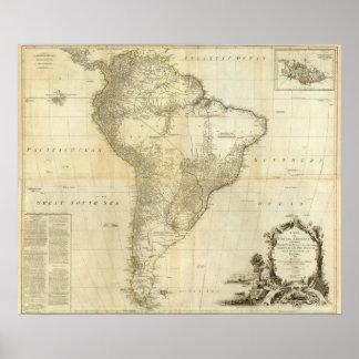 Suramérica compuesta impresiones