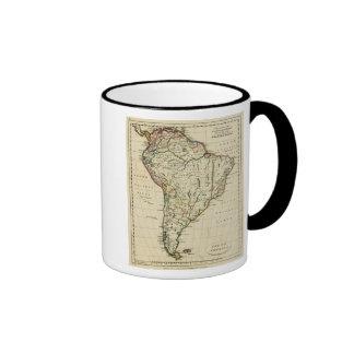 Suramérica con los límites resumidos taza de café