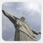 Suramérica, el Brasil, Río de Janeiro. Cristo 3 Colcomanias Cuadradases