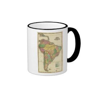 Suramérica en 1823 taza de dos colores