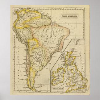 Suramérica islas británicas impresiones