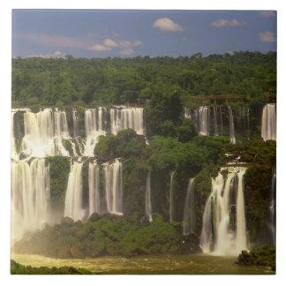 Suramérica, la Argentina, el Brasil, caídas de Igw Azulejo Cuadrado Grande