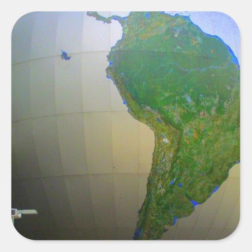 Suramérica Pegatina Cuadrada