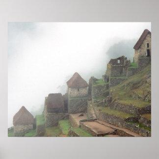 Suramérica Perú Macchu Picchu Póster
