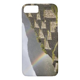 Suramérica, Perú, Machu Picchu. Arco iris encima Funda iPhone 7
