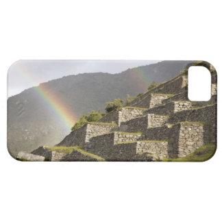 Suramérica, Perú, Machu Picchu. Arco iris encima Funda Para iPhone SE/5/5s