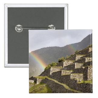 Suramérica, Perú, Machu Picchu. Arco iris encima Pin
