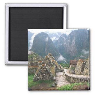 Suramérica, Perú, Machu Picchu Imán Cuadrado