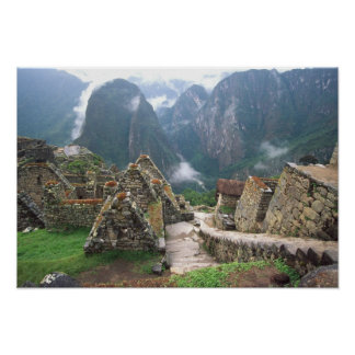 Suramérica, Perú, Machu Picchu Póster