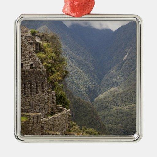 Suramérica, Perú, Machu Picchu. Ruinas de la Adorno Navideño Cuadrado De Metal