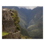 Suramérica, Perú, Machu Picchu. Ruinas de la piedr Póster