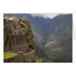 Suramérica, Perú, Machu Picchu. Ruinas de la piedr Tarjeta De Felicitación