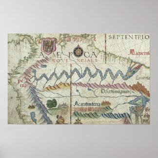 Suramérica septentrional, detalle del mundo póster