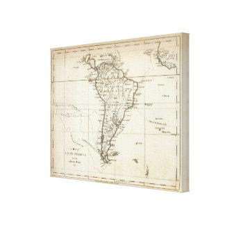 Suramérica y las islas adyacentes impresión en tela