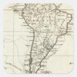 Suramérica y las islas adyacentes calcomania cuadradas personalizada