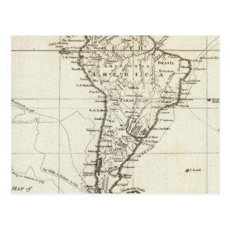 Suramérica y las islas adyacentes postal
