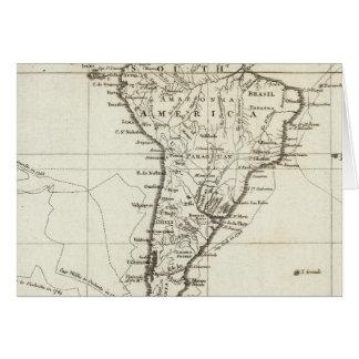 Suramérica y las islas adyacentes tarjeta de felicitación