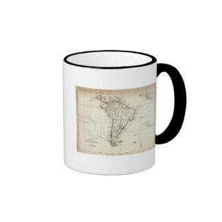 Suramérica y las islas adyacentes taza de dos colores