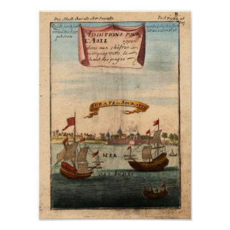 Surat Mallet, Allain Manesson 1719 Reproduction Posters