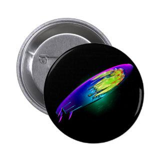 Surboard abstracto pin redondo de 2 pulgadas