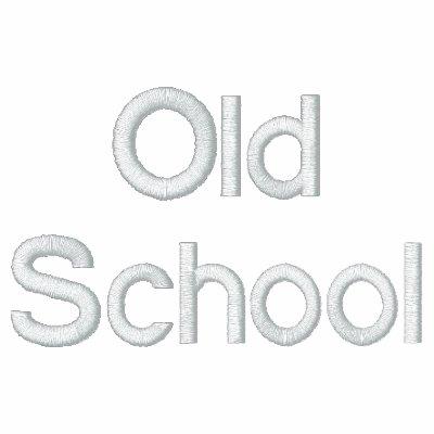 Surco de la escuela vieja de la escuela vieja sudadera bordada con cremallera