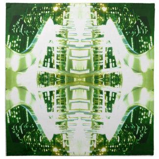 Surco ligero futurista verde servilletas de papel