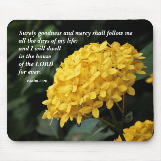 Surely goodness and mercy... mouse pad
