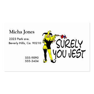 Surely You Jest Jester Double-Sided Standard Business Cards (Pack Of 100)