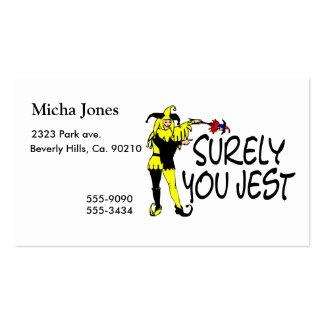 Surely You Jest Jester Business Card