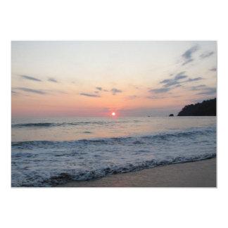 Surene Ocean Sunset 5x7 Paper Invitation Card