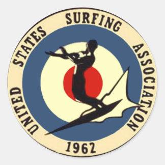 surf-3 classic round sticker