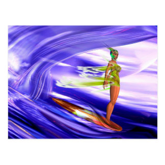 Surf 3 FLATf F Postcard