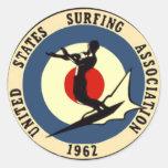 surf-3 pegatinas redondas